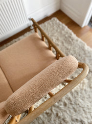 Boucle and Cane 2 Seater Lounge