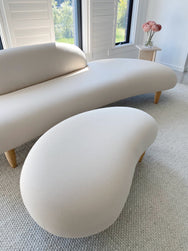 Noguchi Style Sculptural Free-Form Sofa and Ottoman