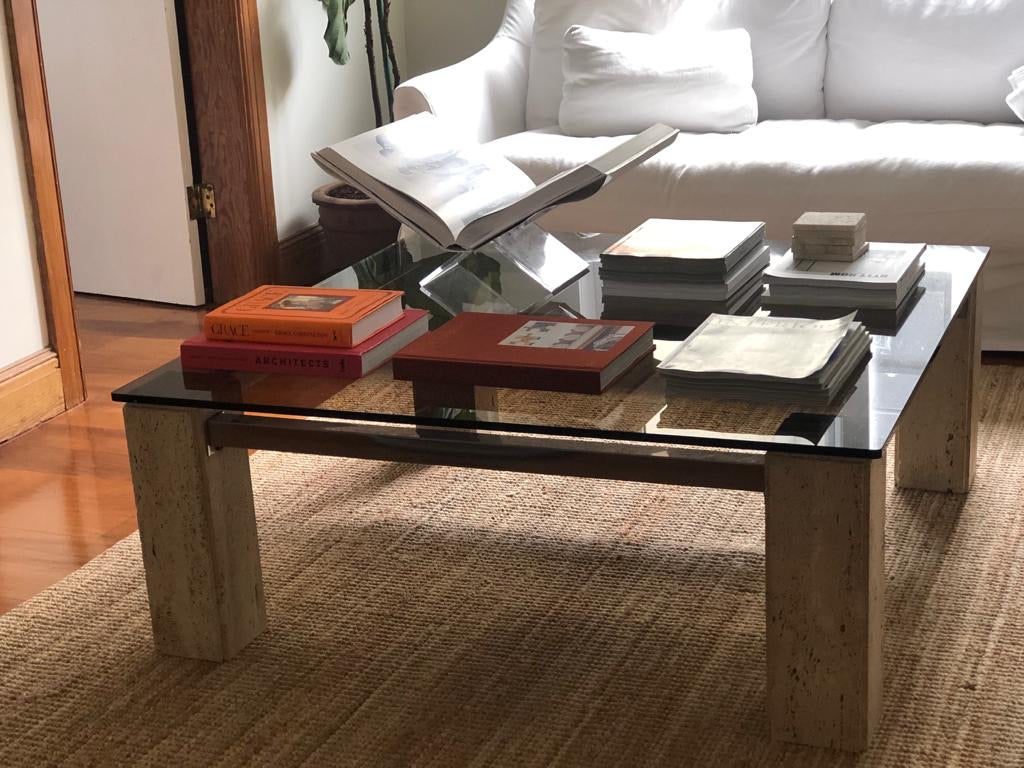 Italian Travertine Coffee Table