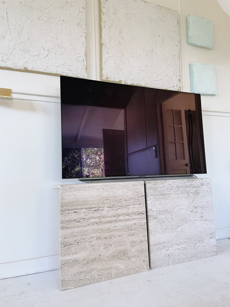 Travertine TV Console/ Sideboard