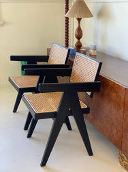 Black Cane Armchairs