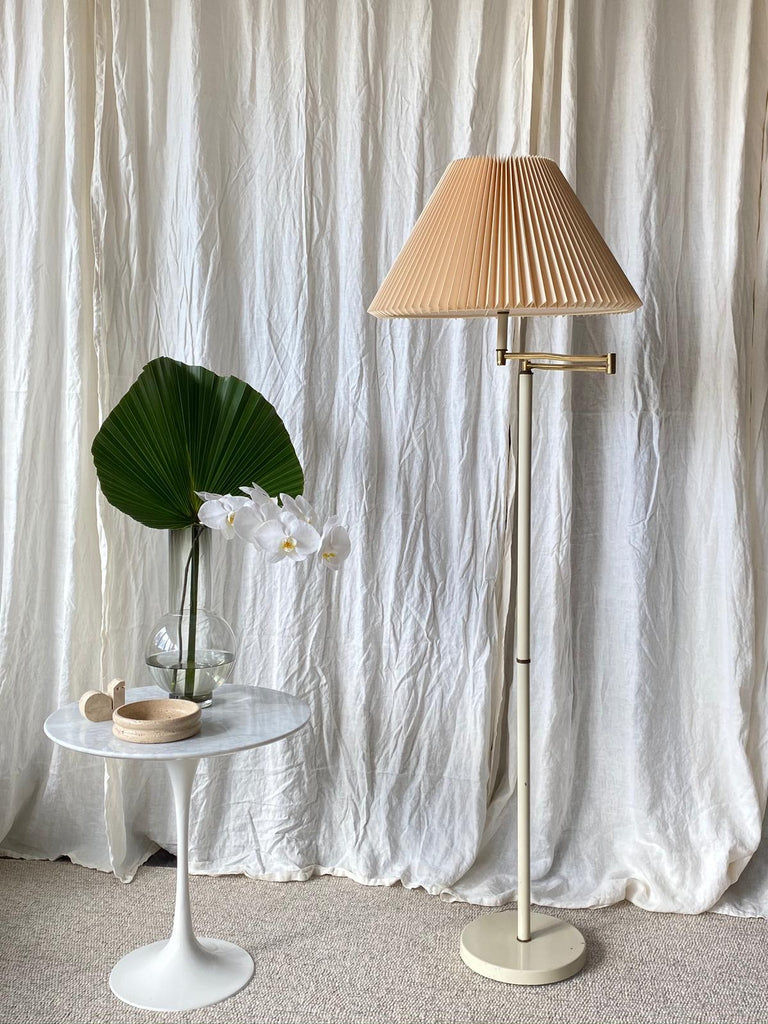 Brass Pleated Floor Lamp