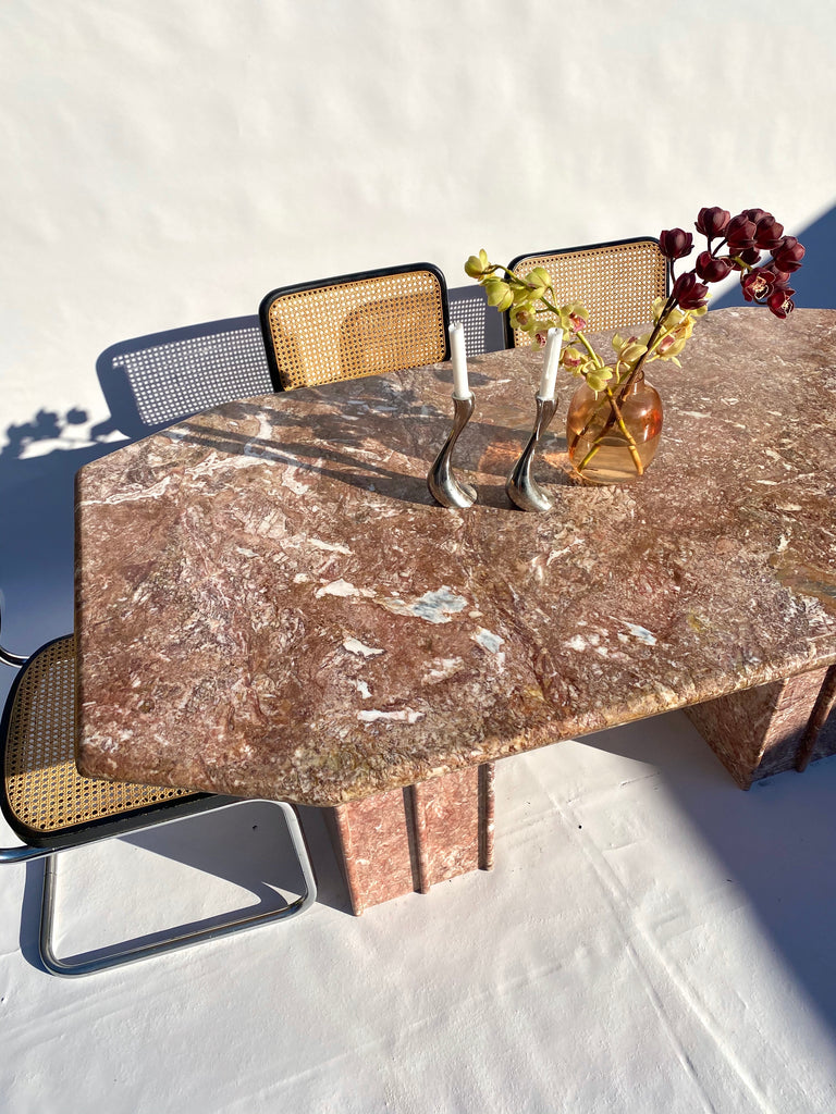 Pink Marble Dining Table
