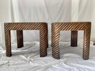 Cane Side Tables