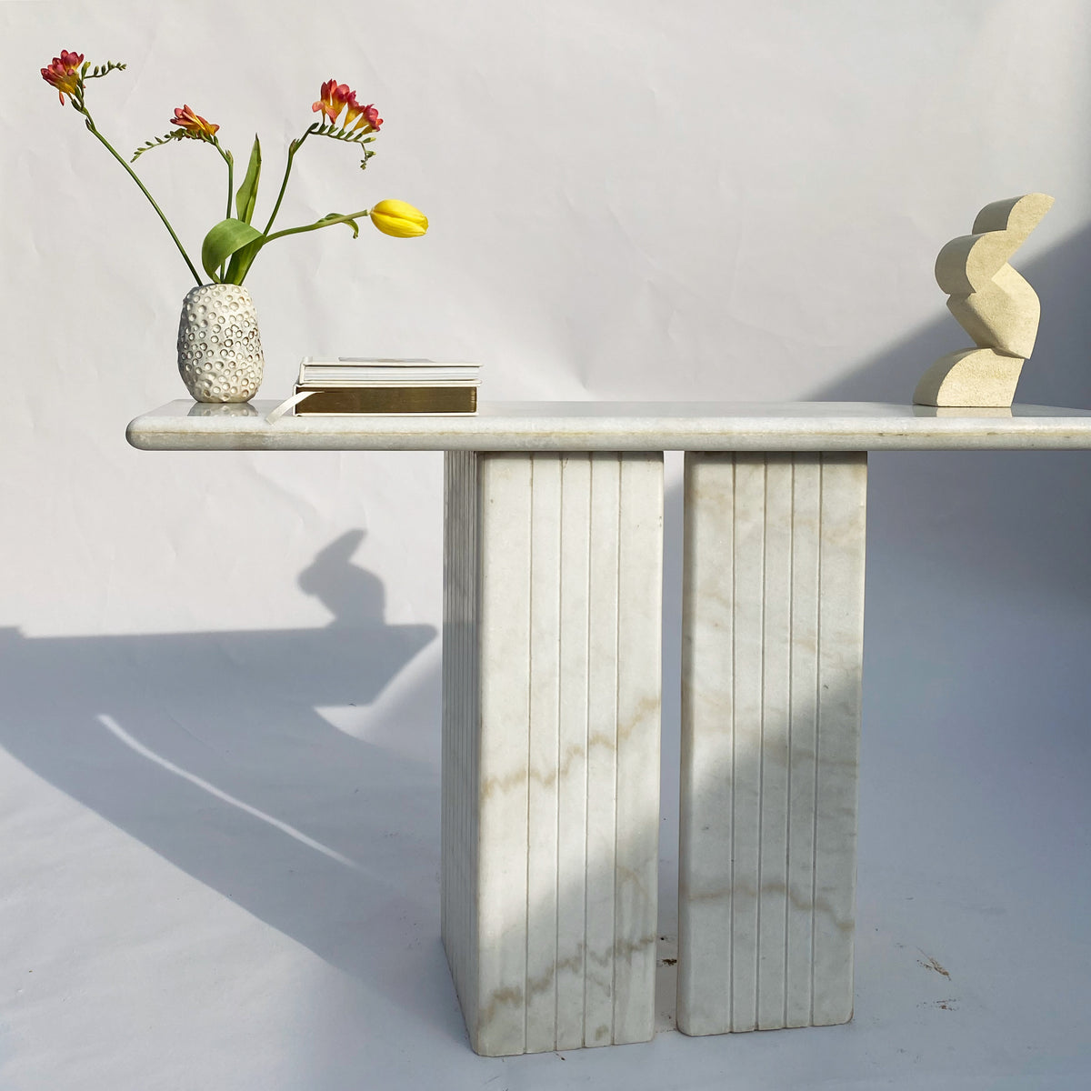 White Marble Hall Table / Desk