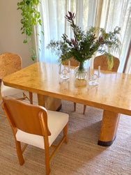 Burl Dining Table