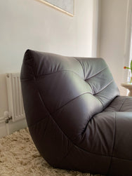Italian Leather Lounge Chair