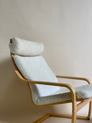Sheepskin Lounge Chair with Footstool