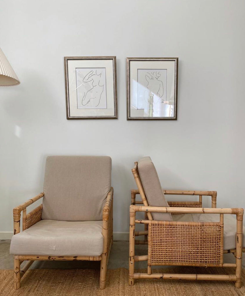 Bamboo Cane Armchairs