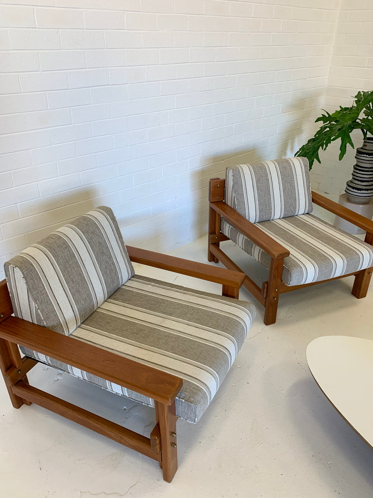 Striped Parker Armchairs