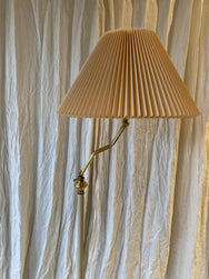 Brass & cream  lamp with Pleated shade