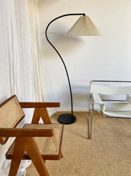 Arched Pleated Floor Lamp