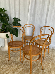 Rattan Bentwood Dining Chairs