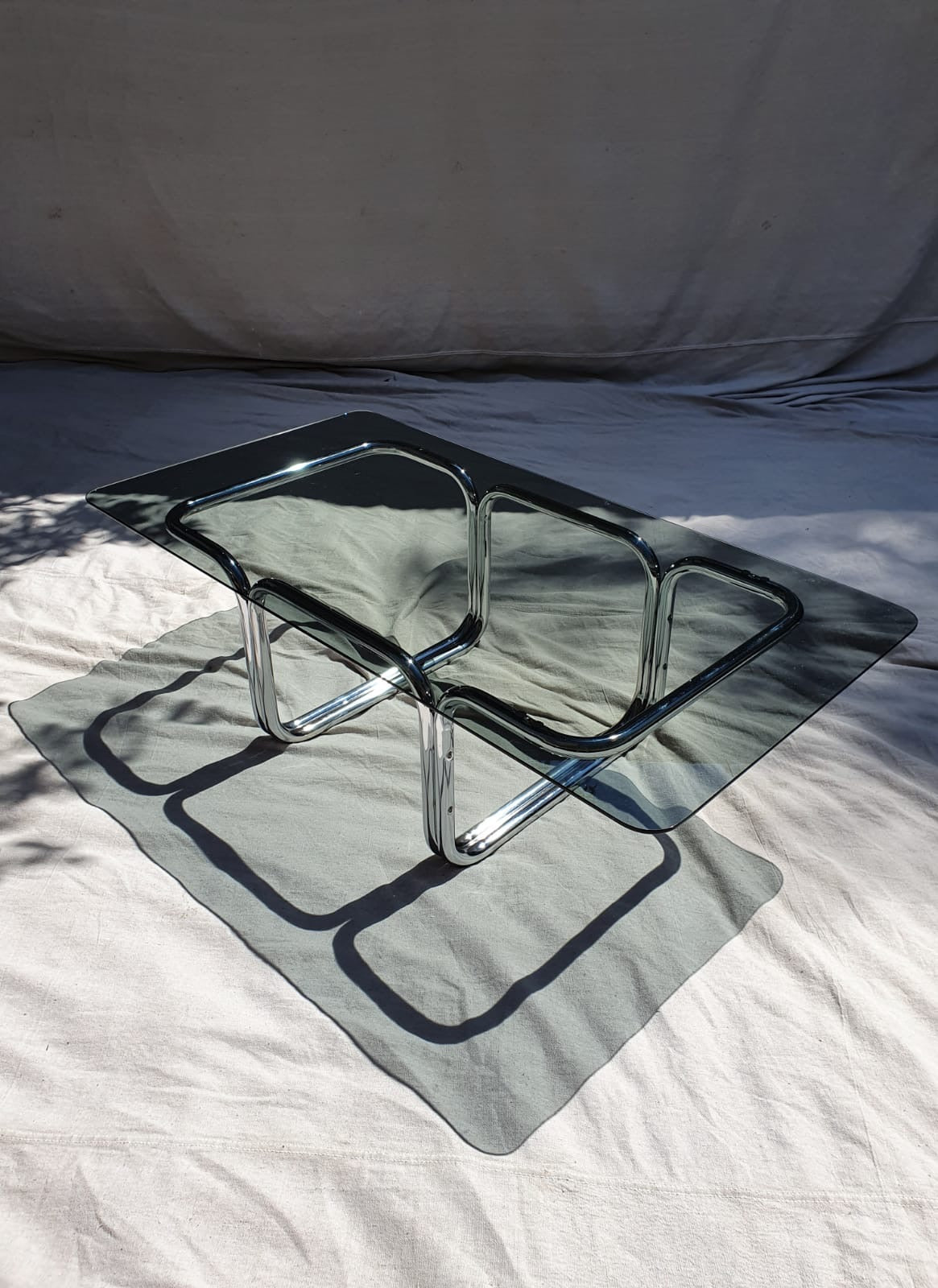 Tubular Chrome Coffee Table