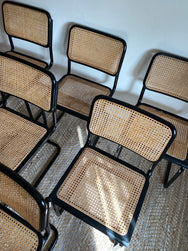 Set of 6 Black Cesca Chairs