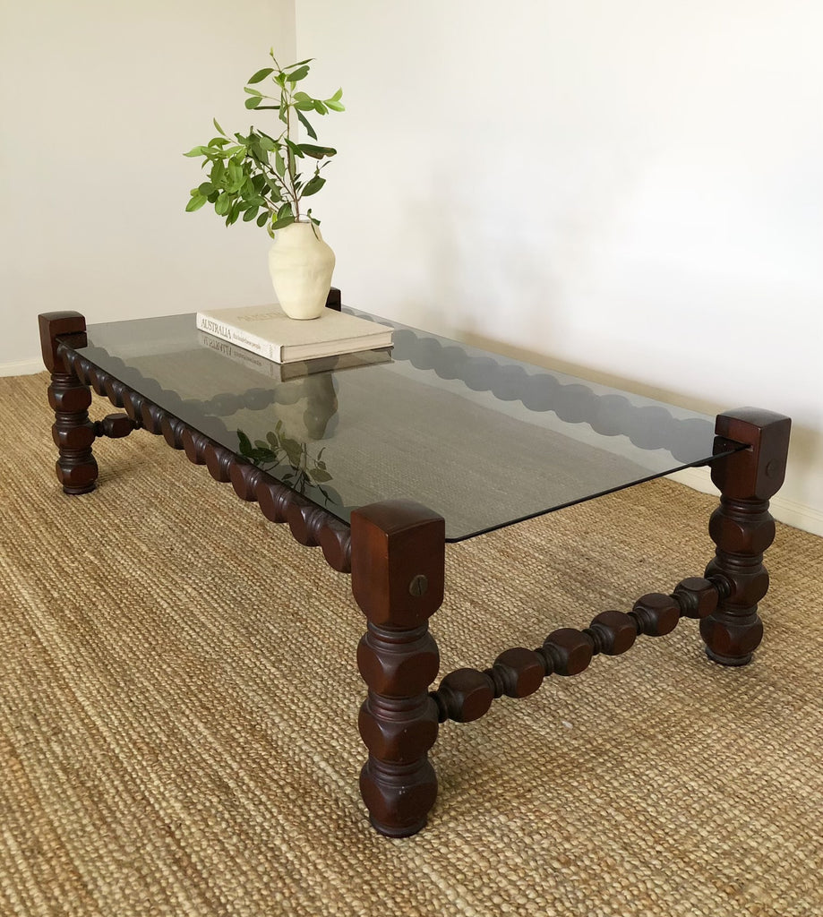 Timber and Glass Coffee Table