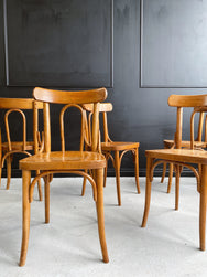 Set of 6 Bentwood Dining Chairs made by Drevounia Czechoslovakia