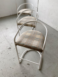 Set of Three Australian-Made Tubular Bar Stools