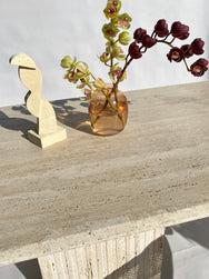 Large Travertine Dining Table