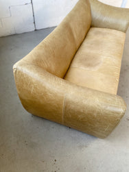 Le Bambole-Style Vintage Leather Sofa