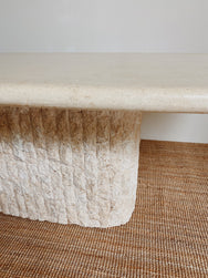 Vintage Fossil Stone Dining Table