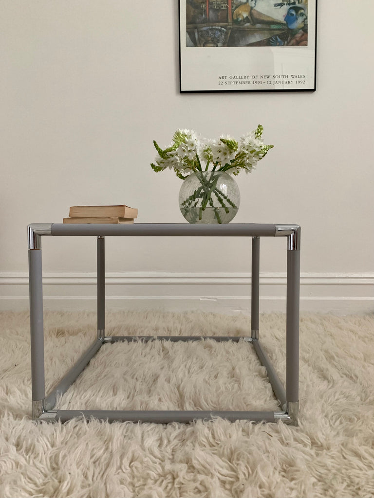 Dove Grey Side Table by Caravelle of Sydney