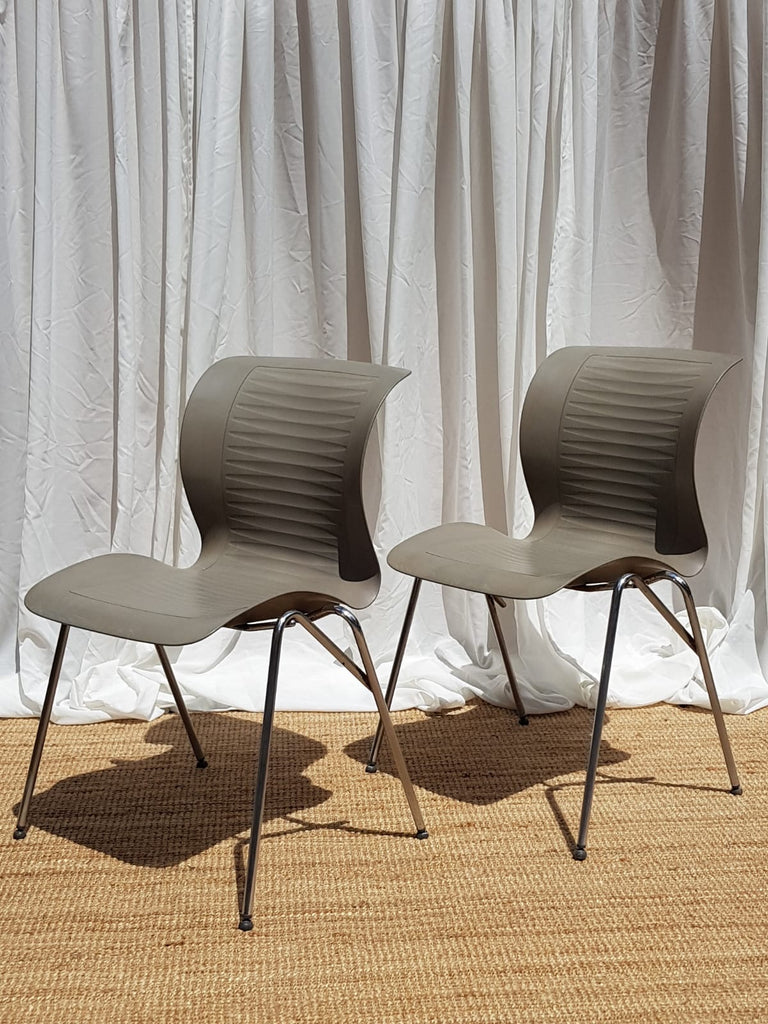 Pair of Fritz Hansen Ensemble Chairs