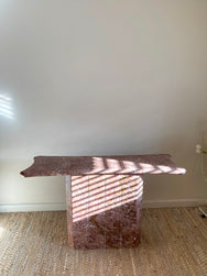 Pink Marble Hall Table