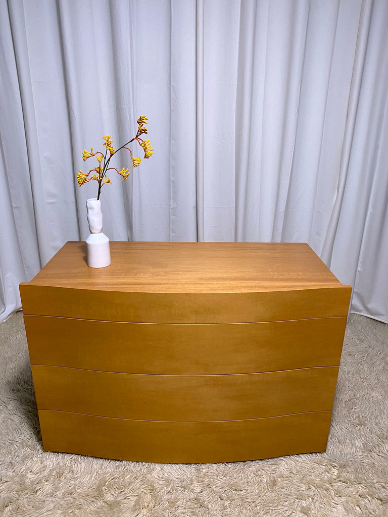 Bow-front Chest of Drawers (Two Available)