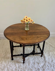 Antique Barley Twist Dining / Console Table