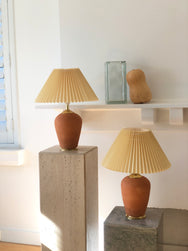 Terracotta & Pleated Lamp