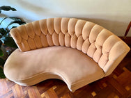 Peach Tufted Sofa