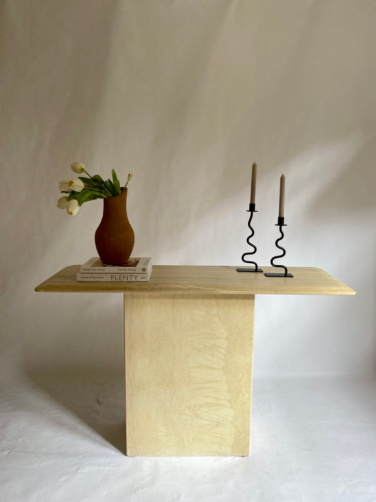 Italian Travertine Hall Table