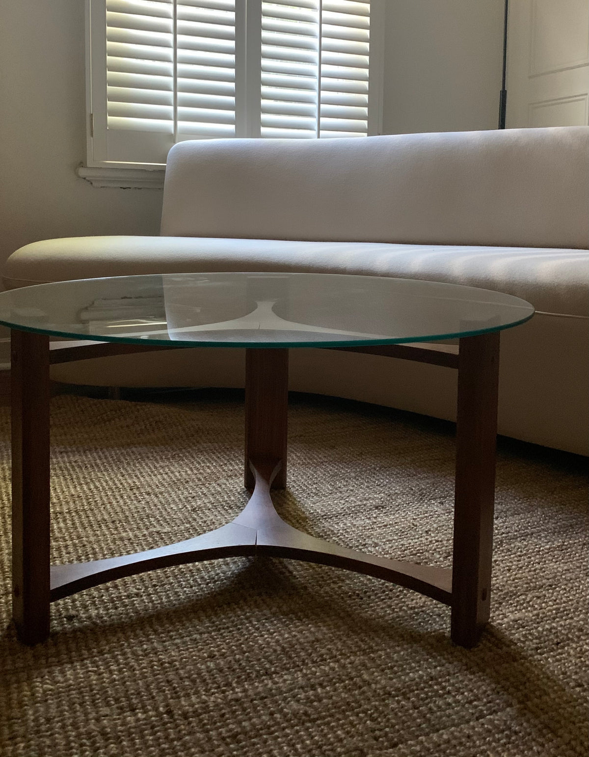 TH Brown Propeller Coffee Table