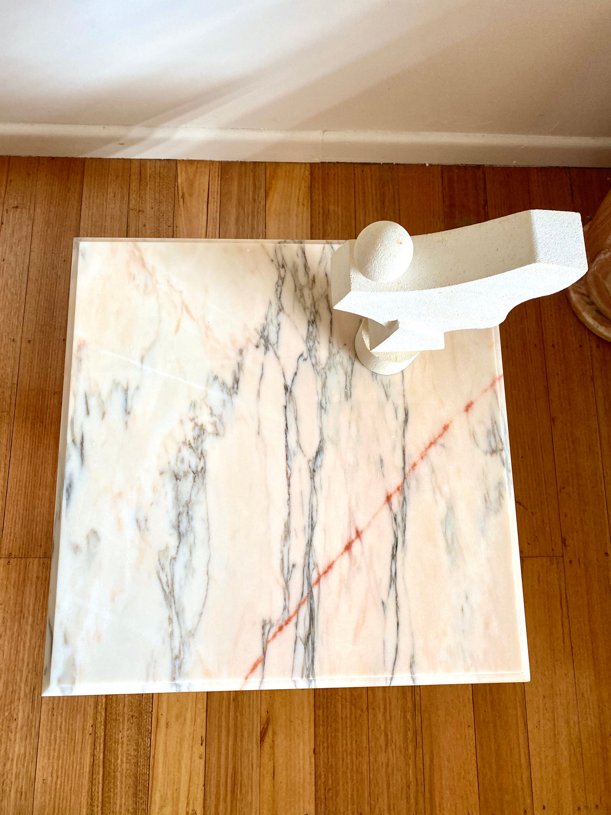 Pink Marble Side Table