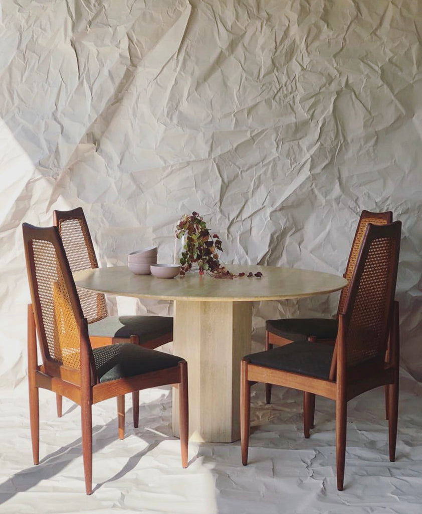 Travertine Dining Table