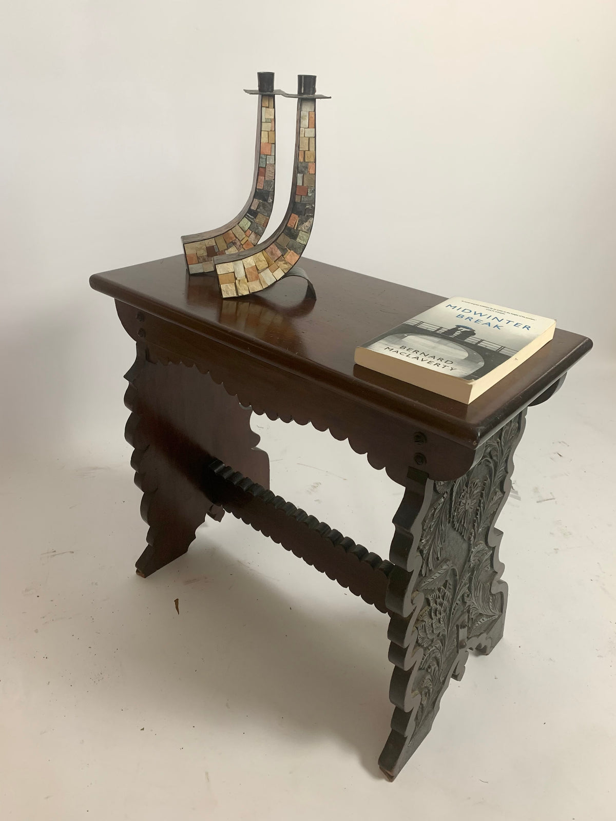 Antique Scalloped Console Table