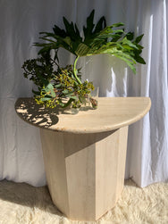Vintage Travertine Console