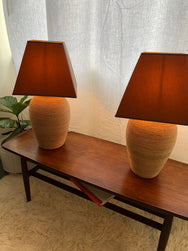 Vintage Seagrass Lamps