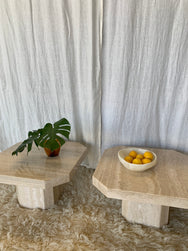 Vintage Travertine Side Tables