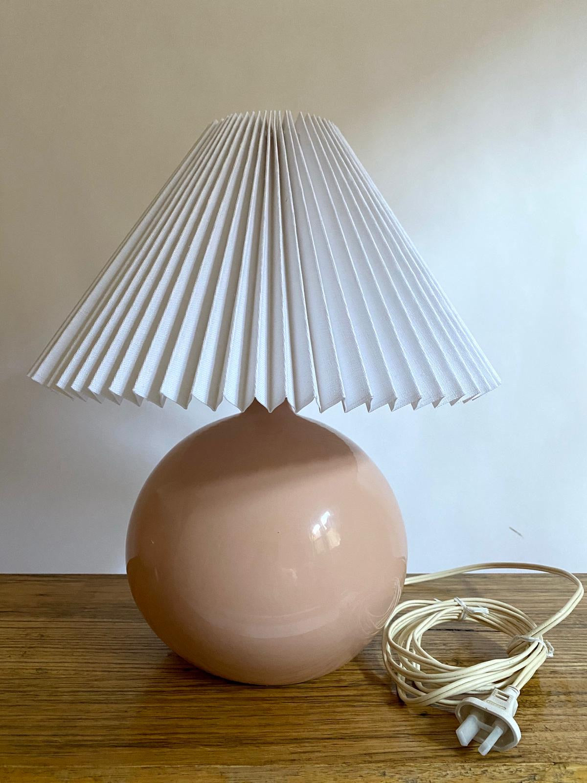 Pink Pleated Lamps