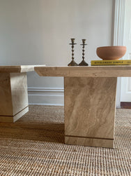 Travertine Side Tables