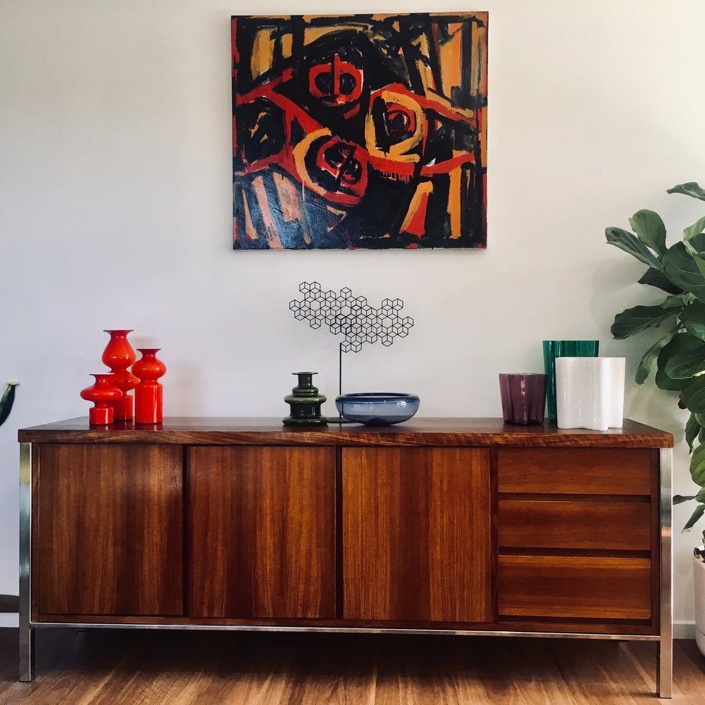 Giacobbe Bros 1970s Blackwood Side board