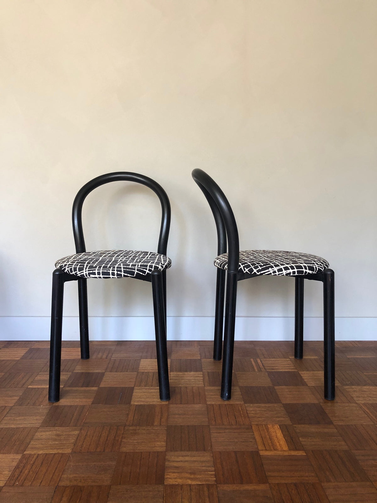 Pair of 1980s Tubular Chairs
