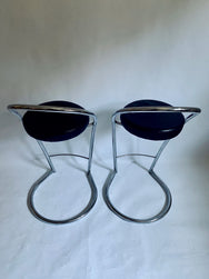 A Pair of Italian-made Bar Stools by Effezeta
