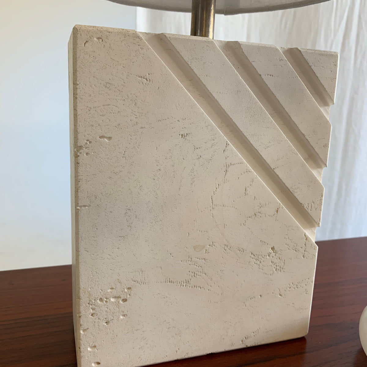 Unique Travertine Lamp