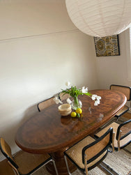 Vintage Burl Dining Table - Extendable