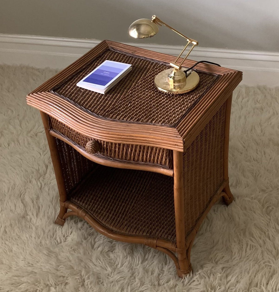Large Wicker Bedside Table
