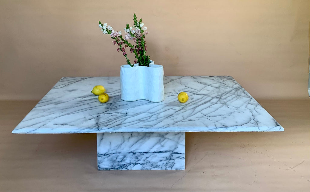 Large Carrara Marble Coffee Table