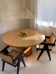 Round Solid Timber Table